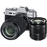"Fujifilm X-T10 Appareil Photo Hybride Ecran LCD 3"" (7,62 cm) 16,3 Mpix Kit Boîtier Argent + Objectifs XC 16-50 mm + XC 50-230 mm"