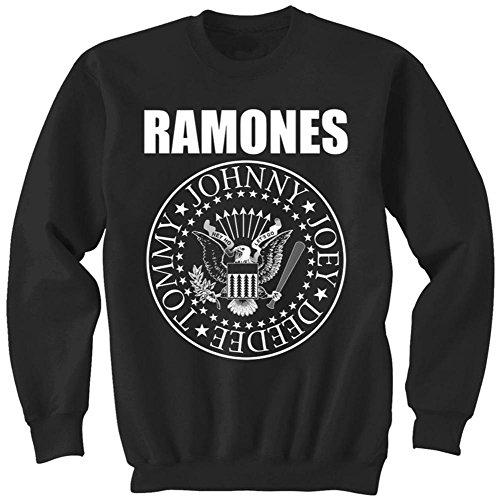Crewneck Sweatshirt: Ramones- Classic Logo Size M