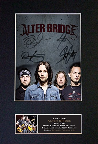 #645 Alter Bridge Signed Autograph Photo Reproduction Print A4 Rare Perfect Birthday (297 x 210mm) (Not Framed)