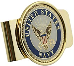 US Navy Logo Money Clip Military Money Clip