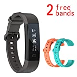 Soloking Y11 Activity Tracker with 2 free Replacement Band - Heart Rate Sleep Monitor - Pedometer - Calorie - SMS Call Whatsapp notice for Andriod&IOS