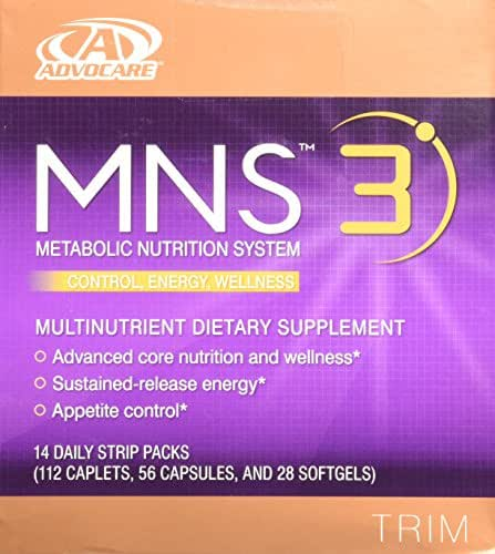 Advocare MNS 3 14 daily strip packs