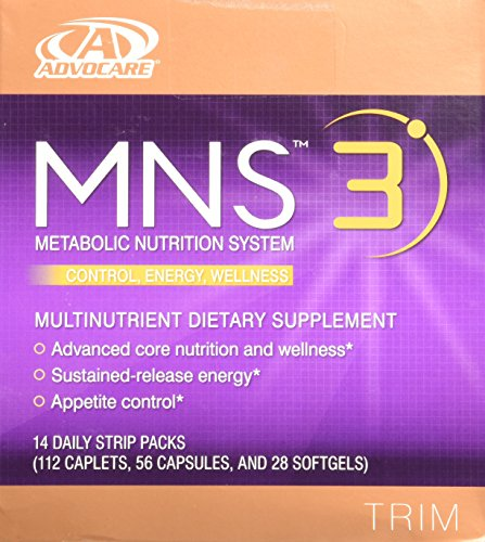 Advocare MNS 3 14 daily strip packs