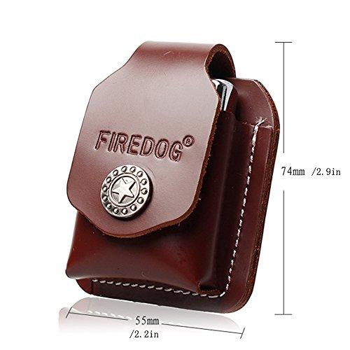 Feuerzeug Fall HOLDER Pocket echtes Leder handmade FlipTop mit Gürtelschlaufe leer Elektronische Feuerzeug Fall Braun vI6SLej