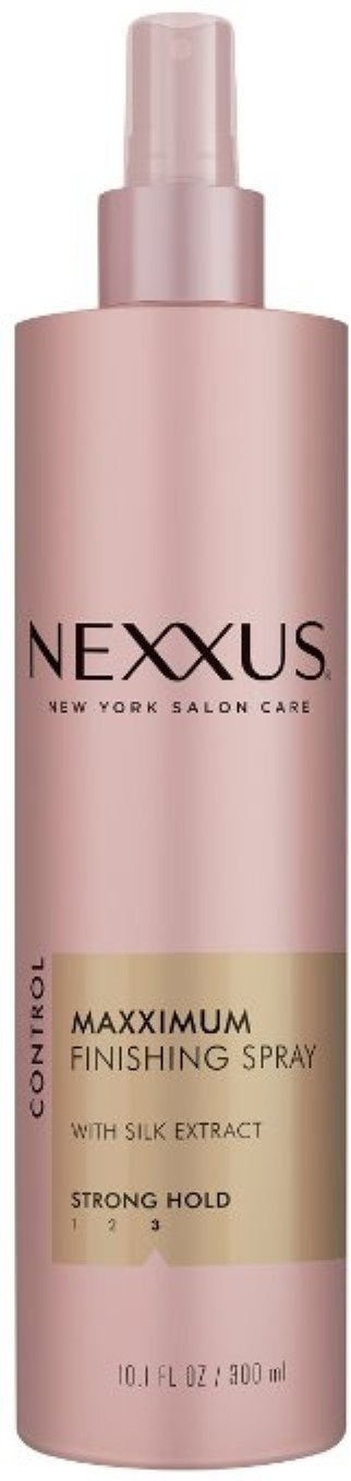 NEXXUS Maxximum Finishing Spray with Silk Extract, Strong Hold 10.1 oz (Pack of 10)