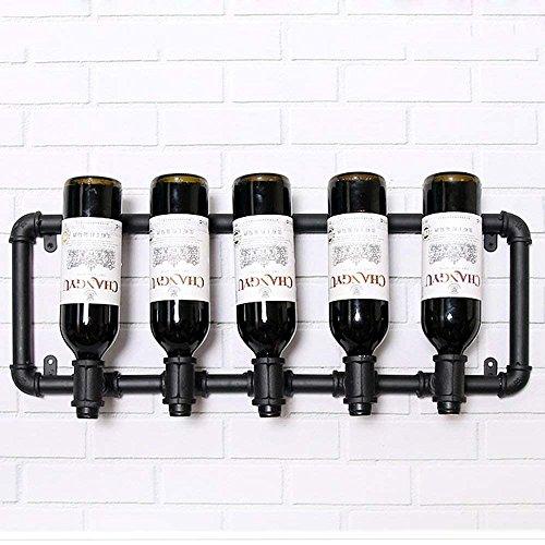 Haizhen Fer Forgé Noir Steampunk Industriel Du Casier à Vin étagère