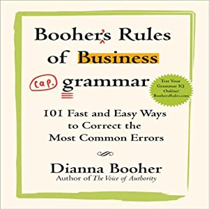 Booher's Rules of Business Grammar Audiobook