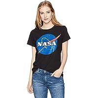 NASA Junior's Blue Logo Short Sleeve Graphic T-Shirt