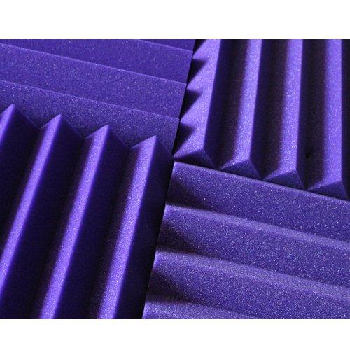 (12 Pk) PURPLE 2''x12''x12'' Sound Absorbing Panels Acoustic Tiles Studio Foam Sound Wedges