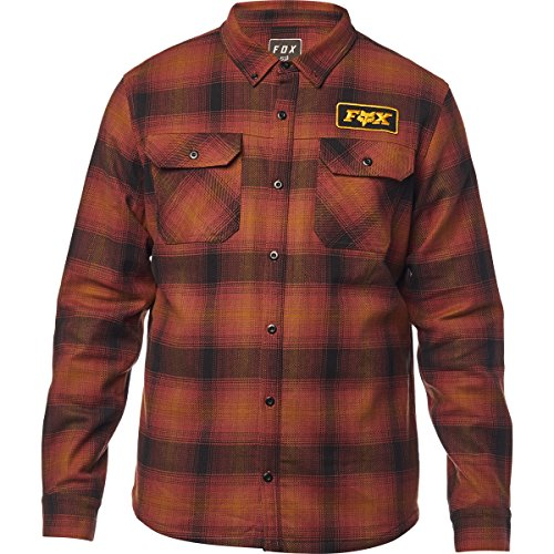 Fox Men's Gorman Overshirt 2.0, Bordeaux, L