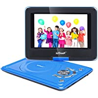 ieGeek 9.5 Portable DVD Player with 360° Swivel Eye Protection Screen, 5 Hour Rechargeable Battery, Supports SD Card and USB, Direct Play in Formats MP4/AVI/RMVB/MP3/JPEG, Blue