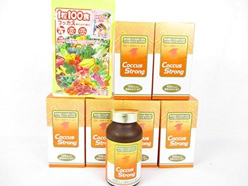 コッカスストロング 360粒入/瓶X6瓶+「1粒100食コッカス」1袋付セット B01N0C453U
