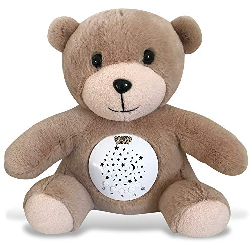 - Cozzy Bear Sleep Soother | Baby White Noise & Lullaby Sound Machine | Rotating Colors Star Projector | Cry Sensor | USB Rechargeable Sleeping & Calming Aid | 2019 Best Registry for Baby Shower Gift