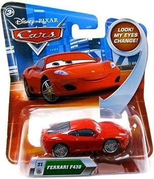 Disney Pixar Cars Movie 1 55 Scale Die Cast Car Ferrari F430 Lenticular Eyes Series 2 Card Mattel By Mattel Amazon De Spielzeug
