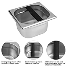 Stainless Steel Espresso Coffee Knock Box Container Coffee Grounds Bucket Coffee Accessories