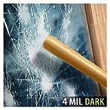 BDF S4MB20 Window Film Security and Privacy 4 Mil Black 20 (Dark) - 12in X 14ft