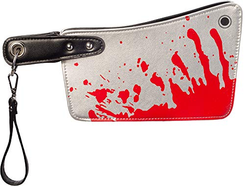 Ladies Bloody Horror Hatchet Halloween Knife Bag Spooky Purse Novelty Fancy Dress Costume Accessory -
