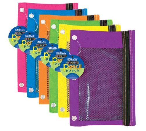 3 Ring Pencil Pouch Window Color