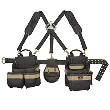 Custom LeatherCraft 1614 23 Pocket, Heavy Duty Framers 5-Piece Comfortlift Combo Tool Belt System