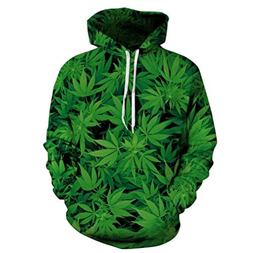 [Timeiya Men's Cotton Blend Hooded Sweatshirt Pullover Plant Pattern] (Male Figure Skater Costume)