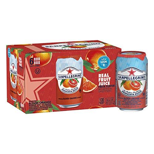 Sanpellegrino Blood Orange Sparkling Fruit Beverage, 11.15 fl oz. Cans (6 Count) ()