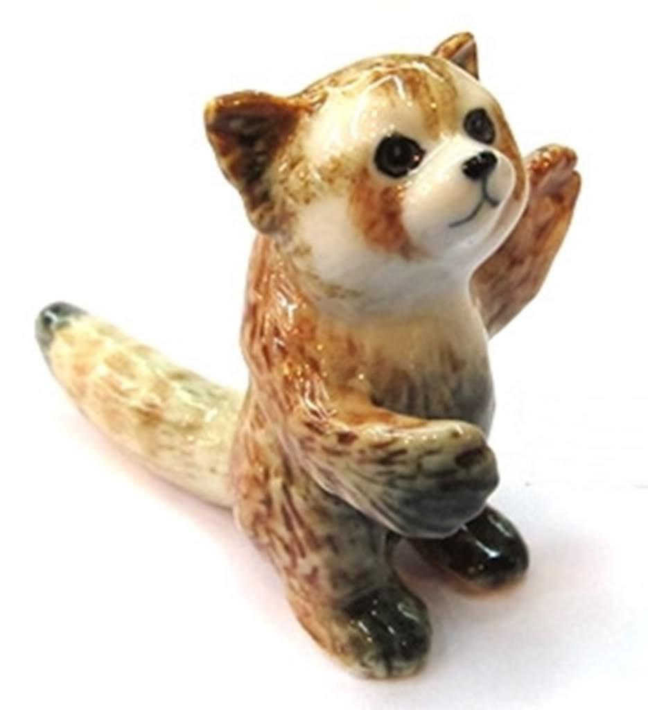 Dollhouse Miniatures Ceramic Red Panda No.1 FIGURINE Animals Decor