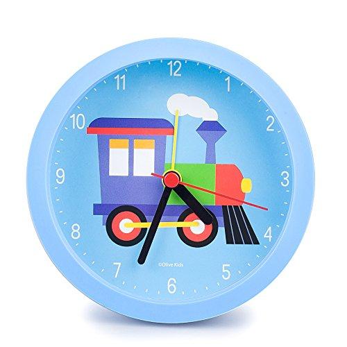Train Alarm (Wildkin Olive Kids Alarm Clock, Blue, One Size)