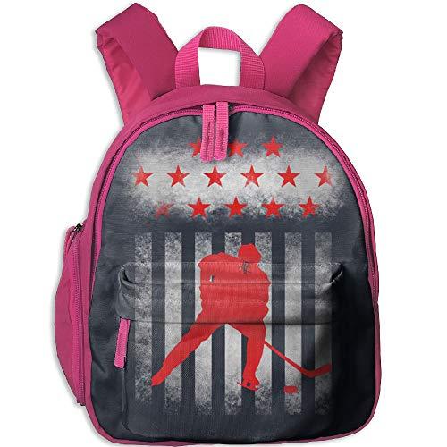 American Ice Hockey School Book Bag Cute Shoulders Bags Backpack Bag For Girls Boys