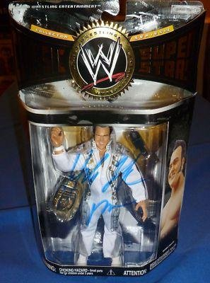 Honky Tonk Man Signed WWE WWF Classic Superstars Action Figure COA Auto - PSA/DNA Certified - Autographed Wrestling Photos