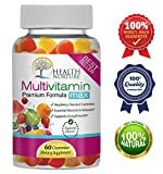 HEALTH NURTURE MULTIVITAMIN MAX- Best Gummy Vitamins for Men and Women- Contains Essential Minerals & Vitamins A, C, D, E, B-6, Vitamin B-12, Folic Acid, Biotin, Pantothenic Acid