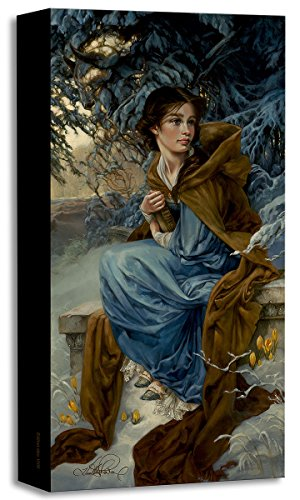 Disney Fine Art Love Blooms in Winter - Treasures on Canvas Beauty and the Beast Belle Reproduction Gallery Wrapped Canvas Wall Art by Heather Theurer