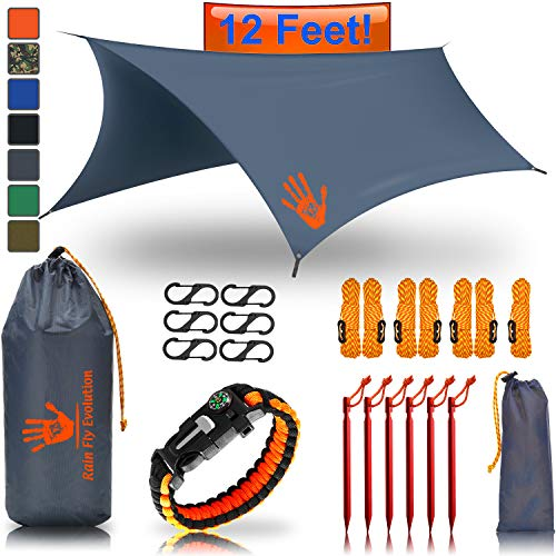 RainFlyEVOLUTION 12 x 10 ft HAMMOCK WATERPROOF RAIN FLY TENT