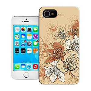 Unique Phone Case Chrysanthemum lines Hard Cover for iPhone 4/4s cases-buythecase