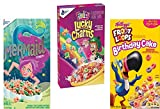 Breakfast Cereals Variety Pack (Fruity Lucky Charms,Froot Loops BirtdayCake and Mermaid)