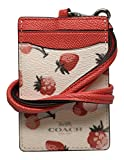 Coach Fruit Print Lanyard Badge ID F23679 Chalk Multi