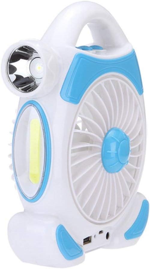 YisnoBear - Ventilador de Camping con Carga USB y luz LED para el Cuidado de los Ojos, Linterna portátil de Mesa por YsinoBear (Color: Azul): Amazon.es: Electrónica