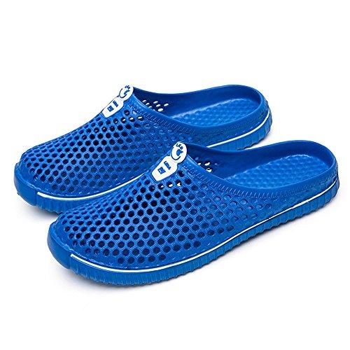ALIKEEY Casual Flip Hueco Unisex Sandal Beach Par Fuera Azul Hombres Flops Zapatos Shoes rO6wTxBXrq