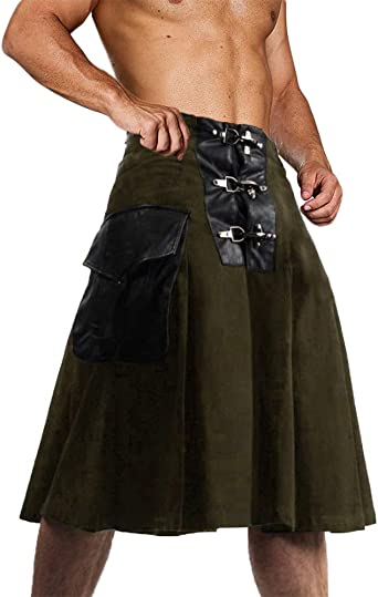 New Handmade Cotton Button Style Utility kilt for sale// 1 PIN AND FLASHES FREE