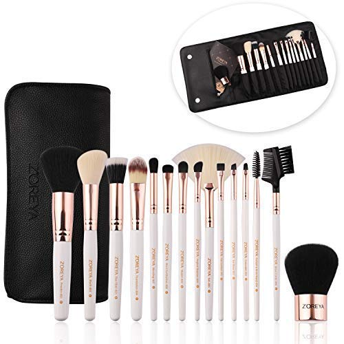 ZOREYA 15 Piece Makeup Brush Set with Luxury Brushes and Exc