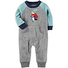 Carter's Baby Boys' Fleece Colorblock Jumpsuit