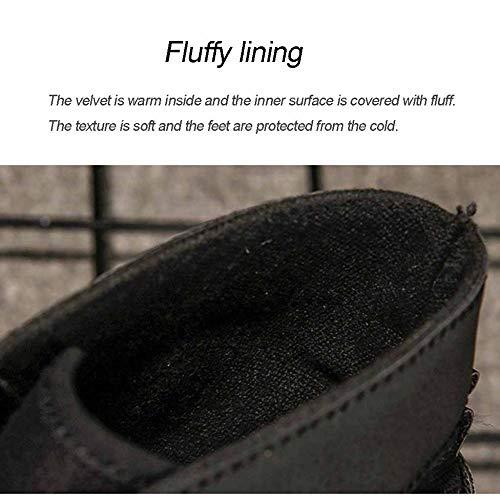 retrò da alta uomo Scarpe alta marrone aiuto per all'aperto inverno scarpe caldo in pelle ginnastica utensili stivali casual Martin qwAqFt6