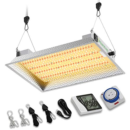 iPlantop Daisy Chain 1500w LED Grow Light with 504pcs LEDs, Dimmable Full Spectrum LED Plant Growing Light with High PPFD for 3x3ft Tent (Power Draw 150W)