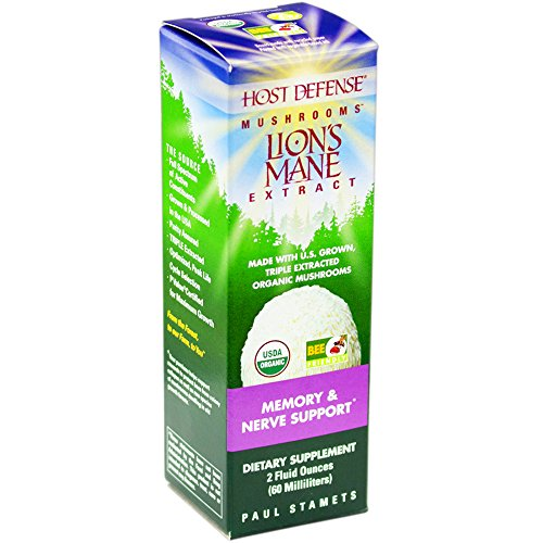 Host Defense - Lion's Mane Extract, Memory & Nerve Support, 60 Servings (2 oz) (Defense Extract)