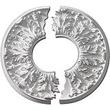 Fypon CM16FL2 16''OD x 5 5/8''ID x 1 1/8''P Florentine Ceiling Medallion, 2 Piece