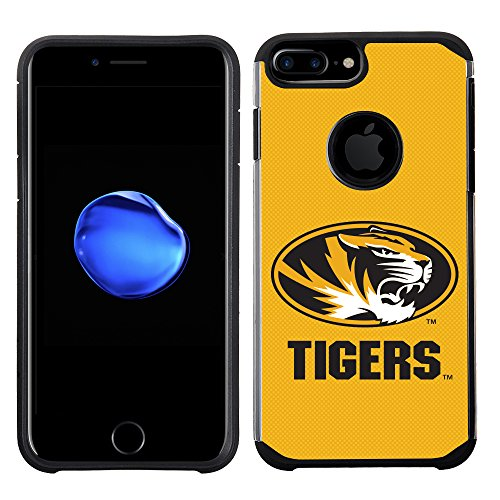 (Prime Brands Group Textured Team Color Cell Phone Case for Apple iPhone 8 Plus/7 Plus/6S Plus/6 Plus - NCAA Licensed University of Missouri Tigers)