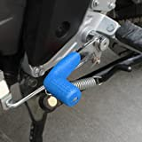 Ecosin Shifter Cover Rubber Gear Shift Shifter Sock Cover Boot Protector Dirt Bike Motorcycle For Kawasaki, Honda, Suzuki, Yamaha, Honda Goldwing (Blue)