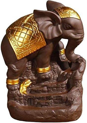 家庭用アロマディフューザー 象還流香香炉の煙は、セラミック気化器を着座滝