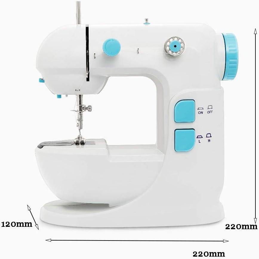 Seeee.u - Máquina de coser pequeña y portátil, ligera ...
