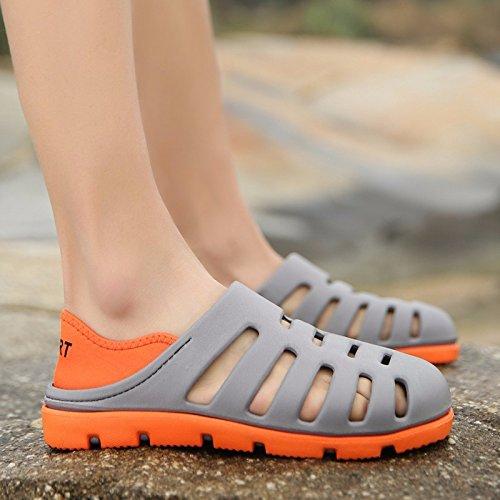 Das neue Sommer Strand Schuh Männer Atmungsaktiv Hohl Ultra-Licht Männer Sandalen Loch Schuh ,grau,US=7.5,UK=7,EU=40 2/3,CN=41