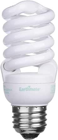Earthmate EP1552AK 15-Watt Super Mini-Spiral CFL 2700K Bulb, 6 Pack